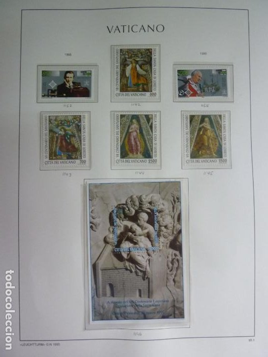 VATICANO 6 SELLOS Y HOJA BLOQUE DE 1995. NUEVOS (Sellos - Extranjero - Europa - Vaticano)