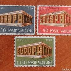 Sellos: VATICANO, EUROPA CEPT 1969 USADA (FOTOGRAFÍA REAL). Lote 212634976