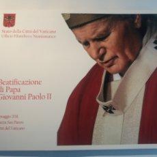 Sellos: BEATIFICACIÓN DEL PAPA JUAN PABLO II - 2011 - VER FOTOGRAFIAS EN EL LA DESCRIPCIÓN.. Lote 214545258