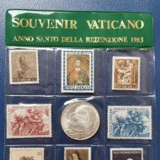 Sellos: SOUVENIR VATICANO PAPA JUAN PABLO II . 1983 ANNO SANTO DELLA REDENZIONE. 8 SELLOS Y 1 MONEDA. Lote 215795181