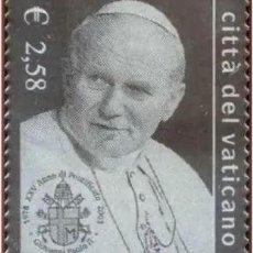 Sellos: VATICANO 2003 - 25 ANIVERSARIO DEL PONTIFICADO DE JUAN PABLO II SELLO DE PLATA. Lote 216513348