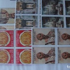 Sellos: VATICANO AÑO 1967 YVERT 466/70 BLOQUE DE 4 NUEVOS SIN CHARNELAS. Lote 216904990