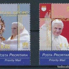 Sellos: VATICANO 2006 IVERT 1407/8 *** VIAJES DE S.S. EL PAPA BENEDICTO XVI EN EL MUNDO. Lote 221800236