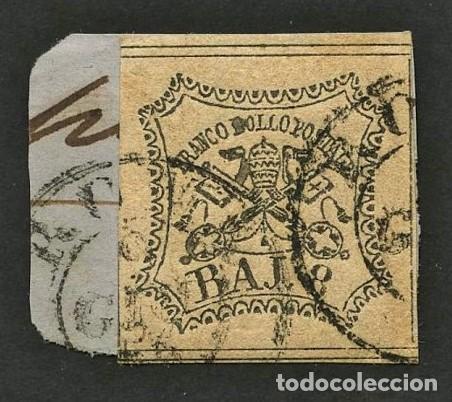 VATICANO, ESTADO PONTIFICIO, SELLO, ESCUDO NACIONAL, 1852, CERT. ROIG, STAMP ITALY (Sellos - Extranjero - Europa - Vaticano)