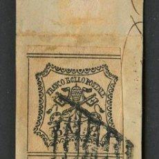 Sellos: VATICANO, ESTADO PONTIFICIO, SELLO, ESCUDO NACIONAL, 1852, CERT. ROIG, STAMP ITALY, (2). Lote 222606811
