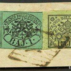 Sellos: VATICANO, ESTADO PONTIFICIO, SELLO, ESCUDO NACIONAL, 1852, CERT. ROIG, STAMP ITALY. Lote 222607670