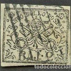 Sellos: VATICANO, ESTADO PONTIFICIO, SELLO, ESCUDO NACIONAL, 1852, CERT. ROIG, STAMP ITALY. Lote 222809381