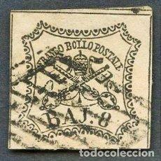 Sellos: VATICANO, ESTADO PONTIFICIO, SELLO, ESCUDO NACIONAL, 1852, CERT. ROIG, STAMP ITALY. Lote 222825856