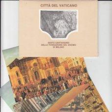 Sellos: VATICANO - E.P - CARTOLINE POSTALI - 1986 - SESTO CENTENARIO FONDAZIONE DUOMO DI MILANO. Lote 222904096
