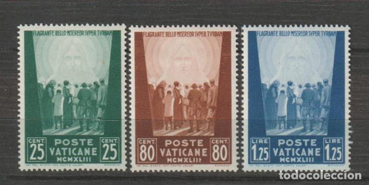VATICANO IVERT 102/04*. AÑO 1943. NUEVO CON FIJASELLOS (Sellos - Extranjero - Europa - Vaticano)