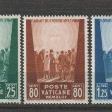 Sellos: VATICANO IVERT 102/04*. AÑO 1943. NUEVO CON FIJASELLOS. Lote 230681625