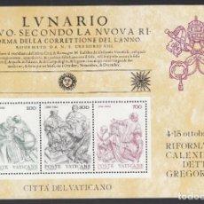 Sellos: VATICANO, 1982 YVERT Nº 4 /**/, IV CENTENARIO DE LA REFORMA DEL CALENDARIO GREGORIANO. Lote 232328850