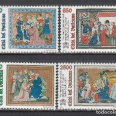 Sellos: VATICANO, 1996 YVERT Nº 1029 / 1032 /**/, 700º ANIVERSARIO DEL REGRESO DE MARCO POLO DE CHINA. Lote 232385515