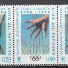 Sellos: VATICANO, 1996 YVERT Nº 1038 / 1042 /**/, JUEGOS OLÍMPICOS DE VERANO 1996 - ATLANTA. Lote 232385790