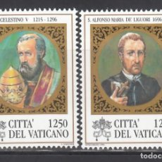 Sellos: VATICANO, 1996 YVERT Nº 1050 / 1051 /**/, PAPA CELESTINO V. Lote 232386015