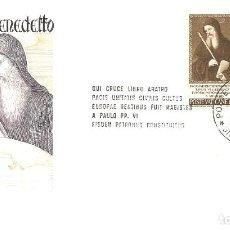 Sellos: SPD -FDC, VATICANO, 1965, TEMA EUROPA. Lote 235465065