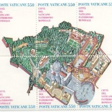 Sellos: VATICANO - CIUDAD DEL VATICANO PATRIMONIO MUNDIAL DE LA HUMANIDAD - AÑO 1986 - 1 HB SELLOS CONJUNTOS. Lote 235582325