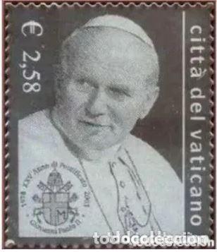 VATICANO 2003 - 25 ANIVERSARIO DEL PONTIFICADO DE JUAN PABLO II SELLO DE PLATA (Sellos - Extranjero - Europa - Vaticano)