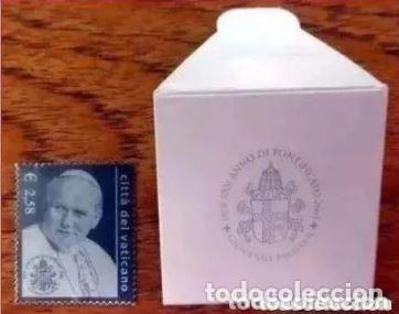 Sellos: VATICANO 2003 - 25 ANIVERSARIO DEL PONTIFICADO DE JUAN PABLO II SELLO DE PLATA - Foto 2 - 235798865