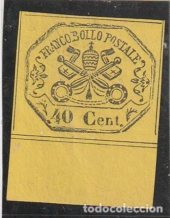 .YVERT Nº17.AMARILLO.40CS.VATICANO.ESTADOS DE LA IGLESIA.ESCUDOS.NUEVOS (Sellos - Extranjero - Europa - Vaticano)