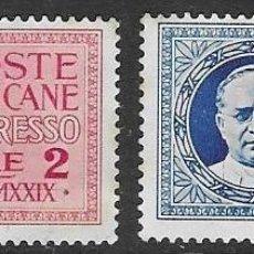 Sellos: SELLOS USADOS DE VATICANO 1929, YT EX 1/ 2, FOTOS ORIGINALES. Lote 243885650