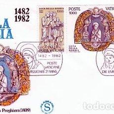 Sellos: VATICANO.- SOBRE DE PRIMER DIA DE LUCA DE LA ROBBIA Nº 728/30. Lote 244993740
