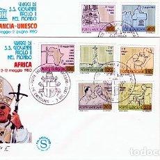 Sellos: VATICANO.- SOBRE DE PRIMER DIA DE LOS VIAJES DEL PAPA Nº 715/25. Lote 244994830