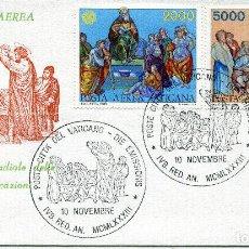 Sellos: VATICANO CARTA PRIMER DIA, 1983 , MICHEL 842-843. Lote 251565625