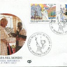 Sellos: VATICANO CARTA PRIMER DIA , 1986 , MICHEL 905-906. Lote 251566895