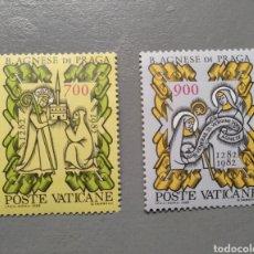 Sellos: VATICANO VATICANE 726/27 B AGNESE DE PRAGA AÑO 1982. Lote 255439605