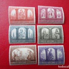 Sellos: VATICANO,1966, MILENARIO DEL CRISTIANISMO EN POLONIA, YVERT 451/56. Lote 260648550