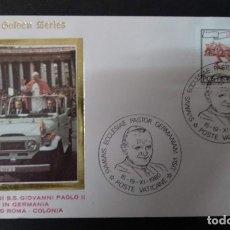 Sellos: VATICANO 1979. VIAJE DE S.S. GIOVANNI PAOLO II EN ALEMANIA. VUELO ROMA - COLONIA. Lote 266950979