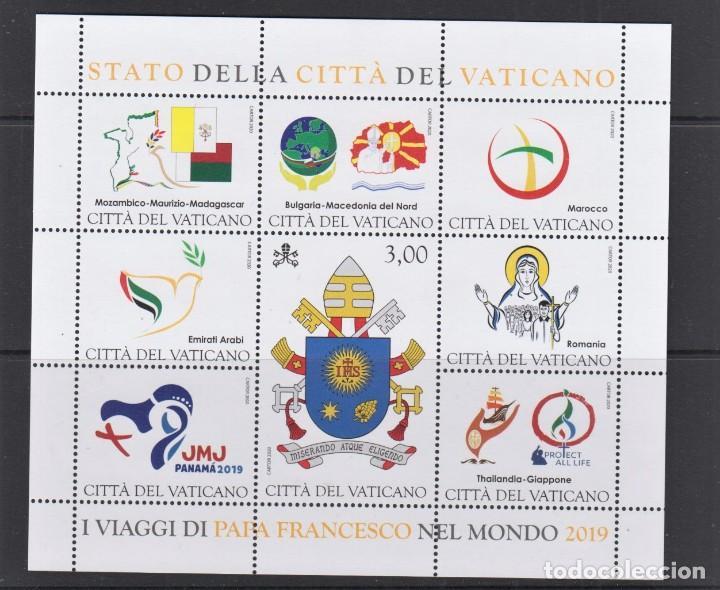 19.- VATICANO 2020 VIAJES DEL PAPA FRANCISCO EN EL AÑO 2019 (Sellos - Extranjero - Europa - Vaticano)