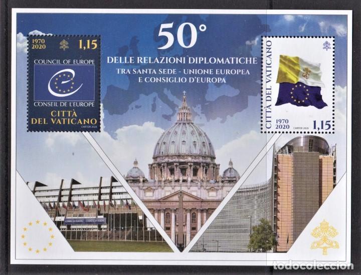 20.- VATICANO 2020 RELACIONES DIPLOMATICAS VATICANO - UNION EUROPEA Y CONSEJO DE EUROPA (Sellos - Extranjero - Europa - Vaticano)