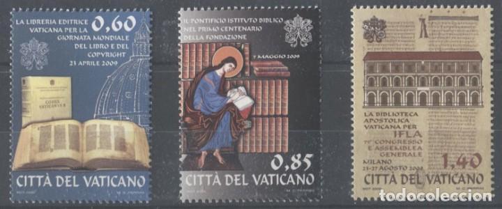 VATICANO 2009 - AÑO INTERNACIONAL DEL LIBRO** SERIE DE 3 SELLOS (Sellos - Extranjero - Europa - Vaticano)