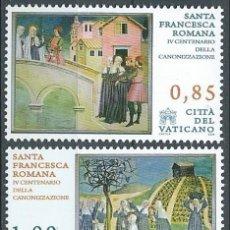Sellos: VATICANO 2009 - IV CENTENARIO DE LA CANONIZACION DE SANTA FRANCESCA ROMANA**. Lote 270362298