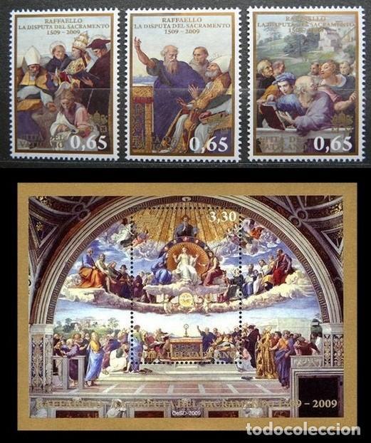 "VATICANO 2009 - V CENTENARIO DEL FRESCO DE RAFAEL ""LA DISPUTA DEL SANTO SACRAMENTO"". (Sellos - Extranjero - Europa - Vaticano)"
