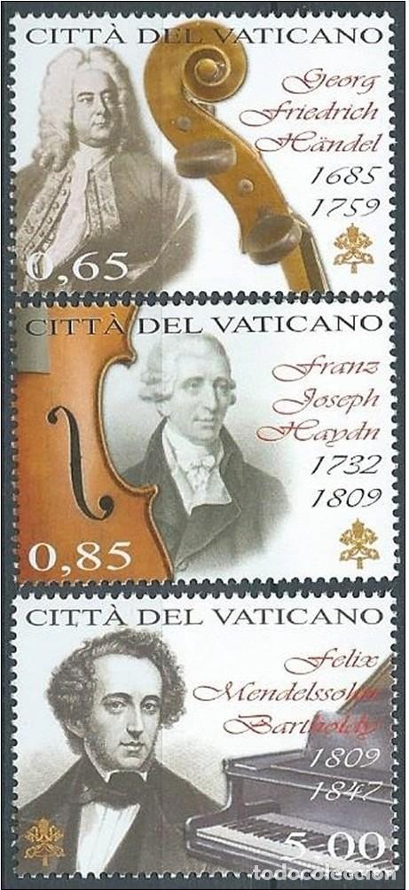 VATICANO 2009 - DIA DE LA MUSICA - HANDEL - HAYDN - MELDELSSHON (Sellos - Extranjero - Europa - Vaticano)