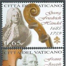 Sellos: VATICANO 2009 - DIA DE LA MUSICA - HANDEL - HAYDN - MELDELSSHON. Lote 270366013