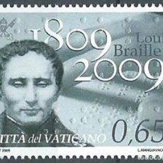 Sellos: VATICANO 2009 - CENTENARIO DEL NACIMIENTO DE LOUIS BRAILLE. Lote 270366498