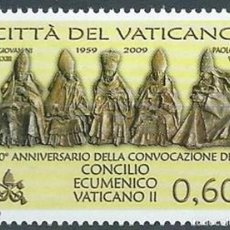 Sellos: VATICANO 2009 - 50 ANIVERSARIO DEL CONCILIO ECUMÉNICO VATICANO II. Lote 270366933