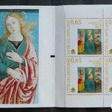 Sellos: VATICANO 2009 - NAVIDAD - NOEL - CHRISTMAS - CARNET (BOOKLET). Lote 270367573