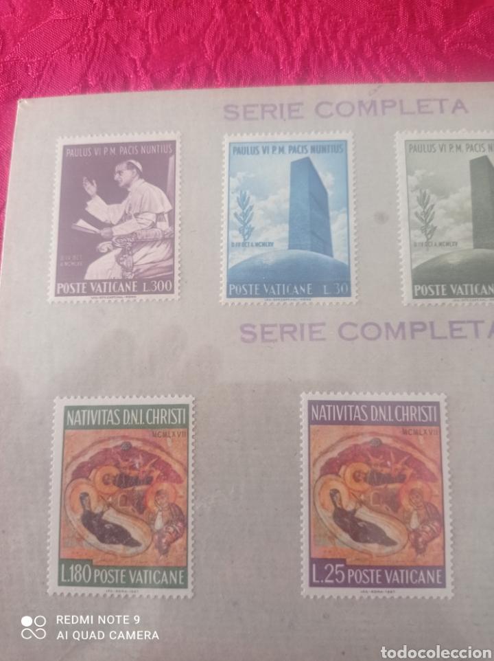 Sellos: Lote de 7 sellos del Vaticano serie completa - Foto 2 - 278270573