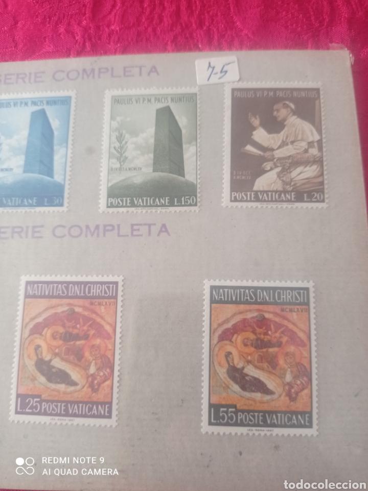 Sellos: Lote de 7 sellos del Vaticano serie completa - Foto 3 - 278270573
