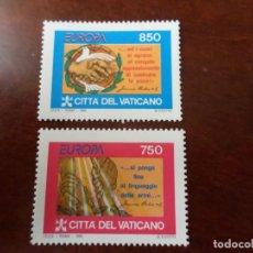 Sellos: VATICANO, 1995, EUROPA, PAZ Y LIBERTAD, YVERT 998/99. Lote 289490758