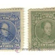 Sellos: LOTE DE 2 SELLOS ANTIGUOS, VENEZUELA. Lote 10357987