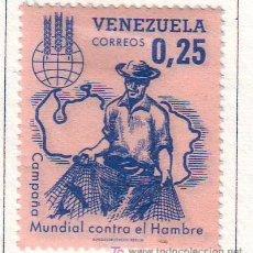 Sellos: VENEZUELA.AÑO 1963.VALOR NUEVO CON FIJASELLOS.CONTRA EL HAMBRE.. Lote 21080930
