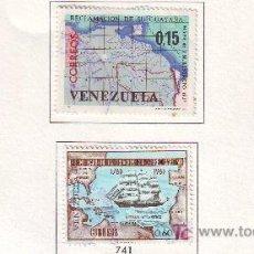 Sellos: VENEZUELA.AÑO 1965.4 VALORES.MAPAS.CARTOGRAFIA.. Lote 21080977