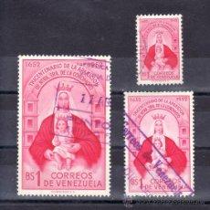 Sellos: VENEZUELA 420/2 USADA, III CENTENARIO DE LA APARICION DE NUESTRA SEÑORA DE COROMOTO. Lote 23787537