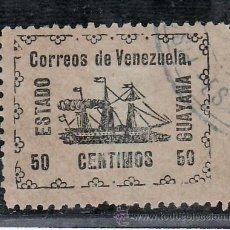 Sellos: VENEZUELA 90 USADA, BARCO, VAPOR -BANRIGH-, PUNTO CLARO, . Lote 23788515
